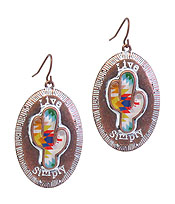WESTERN THEME EARRING - CACTUS