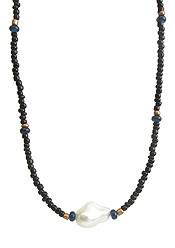 BAROQUE PEARL AND MULTI SEEDBEAD NECKLACE