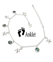 SEALIFE THEME ABALONE DANGLE ANKLET - STARFISH