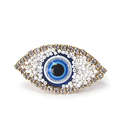 MULTI SEED BEAD EVIL EYE ADJUSTABLE RING