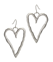 METAL HEART EARRING