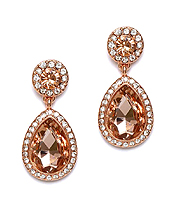 CRYSTAL ROUND AND TEARDROP EARRING