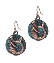 SEALIFE THEME DISC EARRING - MERMAID