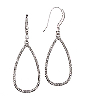 CRYSTAL OPEN TEARDROP EARRING
