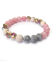 SEMI PRECIOUS STONE MIX STRETCH BRACELET