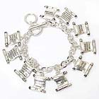 RELIGIOUS INSPIRATION MESSAGE CHARM BRACELET - TEN COMMANDMENTS