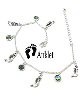 SEALIFE THEME ABALONE DANGLE ANKLET - MERMAID