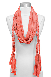 JERSEY BRAIDED SCARF - 100% POLYESTER