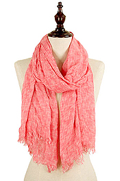 TWO TONE CRINKLE OBLONG SCARF - 100% VISCOSE