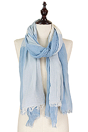 BIG PLAID WOVEN SCARF - 55% COTTON 45% VISCOSE
