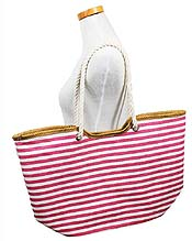 FULL SIZE STRIPE BEACH SHOULDER BAG