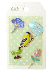 5 PIECE BROOCH SET - SPRING