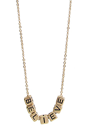 RELIGIOUS INSPIRATION MULTI BLOCK FRIENDSHIP NECKLACE - BELIEVE