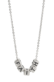 RELIGIOUS INSPIRATION MULTI BLOCK FRIENDSHIP NECKLACE - FAITH