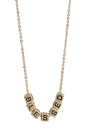 RELIGIOUS INSPIRATION MULTI BLOCK FRIENDSHIP NECKLACE - BLESSED