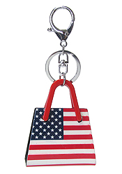 ACRYLIC KEY CHAIN - AMERICAN FLAG BAG