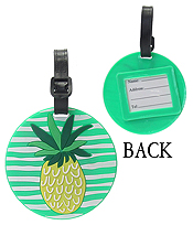 LARGE RUBBER LUGGAGE TAG - PINEAPPLE
