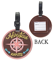 LARGE RUBBER LUGGAGE TAG - ADVENTURE AWAITS