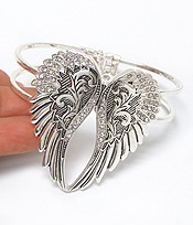 ANGEL WING HINGE BANGLE BRACELET