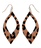 ANIMAL PRINT FABRIC EARRING