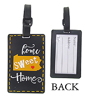 LARGE RUBBER LUGGAGE TAG - HOME SWEET HOME
