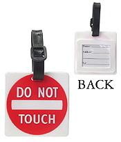 LARGE RUBBER LUGGAGE TAG - DO NOT TOUCH