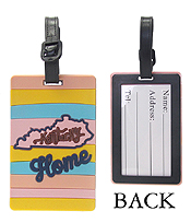 LARGE RUBBER LUGGAGE TAG - KENTUCKY HOME