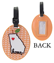 LARGE RUBBER LUGGAGE TAG - HOME
