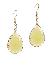 FACET STONE TEARDROP EARRING