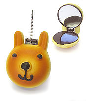SQUISHY POCKET MIRROR CHARM - BABY BEAR
