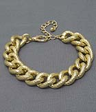 TEXTURED METAL CHAIN BRACELET