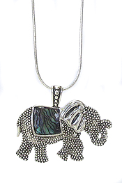 ABALONE ELEPHANT NECKLACE