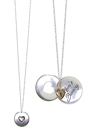 INSPIRATION MESSAGE LOCKET PENDANT NECKLACE - MOM'S BLESSING