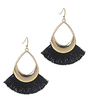 TEARDROP THREAD TASSEL EARRING