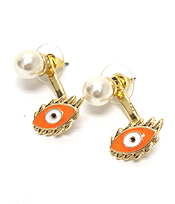 NEON EPOXY EVILEYE FRONT AND BACK DOUBLE SIDED EARRING