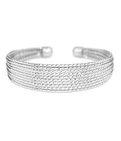MULTI WIRE METAL BANGLE BRACELET