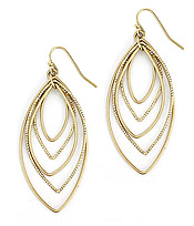 MULTI METAL WIRE LAYER EARRING