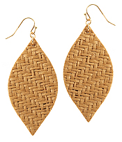 RATTAN MARQUISE EARRING