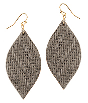 FAUX LEATHER MARQUISE EARRING