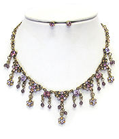 VINTAGE LUXURY CLASS CRYSTAL NECKLACE SET