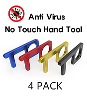 SAFETY TOUCH VIRUS PROTECTOR, DOOR OPENER, KEYPAD ENTRY, STAY WELL HAND TOOL - 4 PCS MIXED COLOR SET