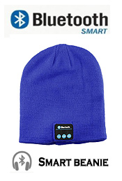 BLUETOOTH 5.0 SMART BEANIE -BUILT-IN HEADPHONE AND MICROPHONE FOR PLAY MUSIC AND HAND FREE TALK - WASHABLE,RECHARGEABLE - COMPATIABLE ALL PHONE