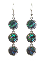 GEOMETRIC SHAPE ABALONE EARRING - MULTI DISC