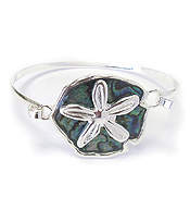 SEA LIFE THEME WIRE BANGLE BRACELET - SAND DOLLAR