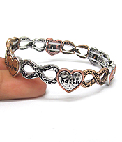FAITH HOPE LOVE INFINITY BRACELET