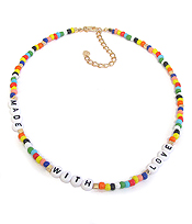 MULTI BEAD NECKLACE - MADE WITH LOVE