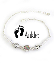 SEALIFE THEME ABALONE ANKLET - SHELL