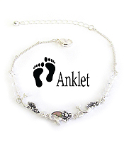 SEALIFE THEME ABALONE ANKLET - MERMAID