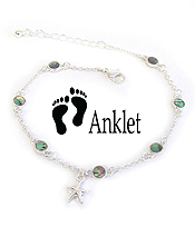 SEALIFE THEME ABALONE ANKLET - STARFISH
