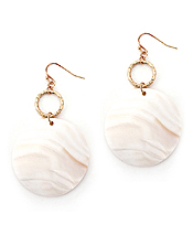 SHELL DISC DROP EARRING